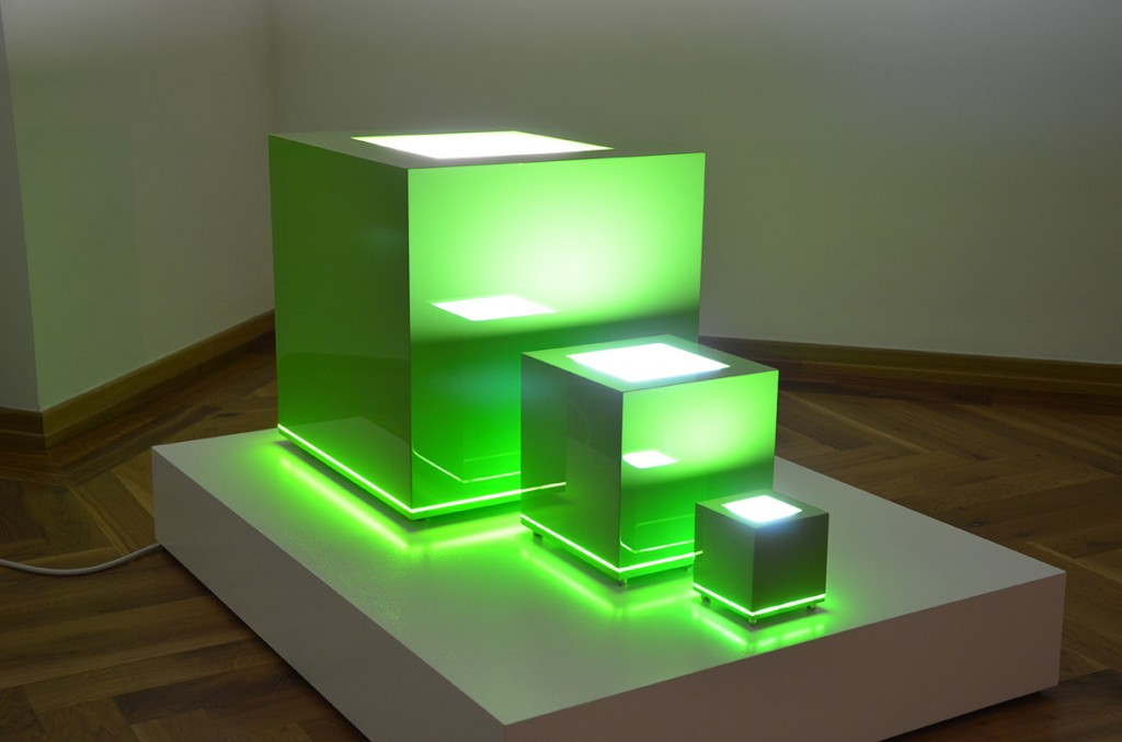 Stefan Bechert Cubes green 3